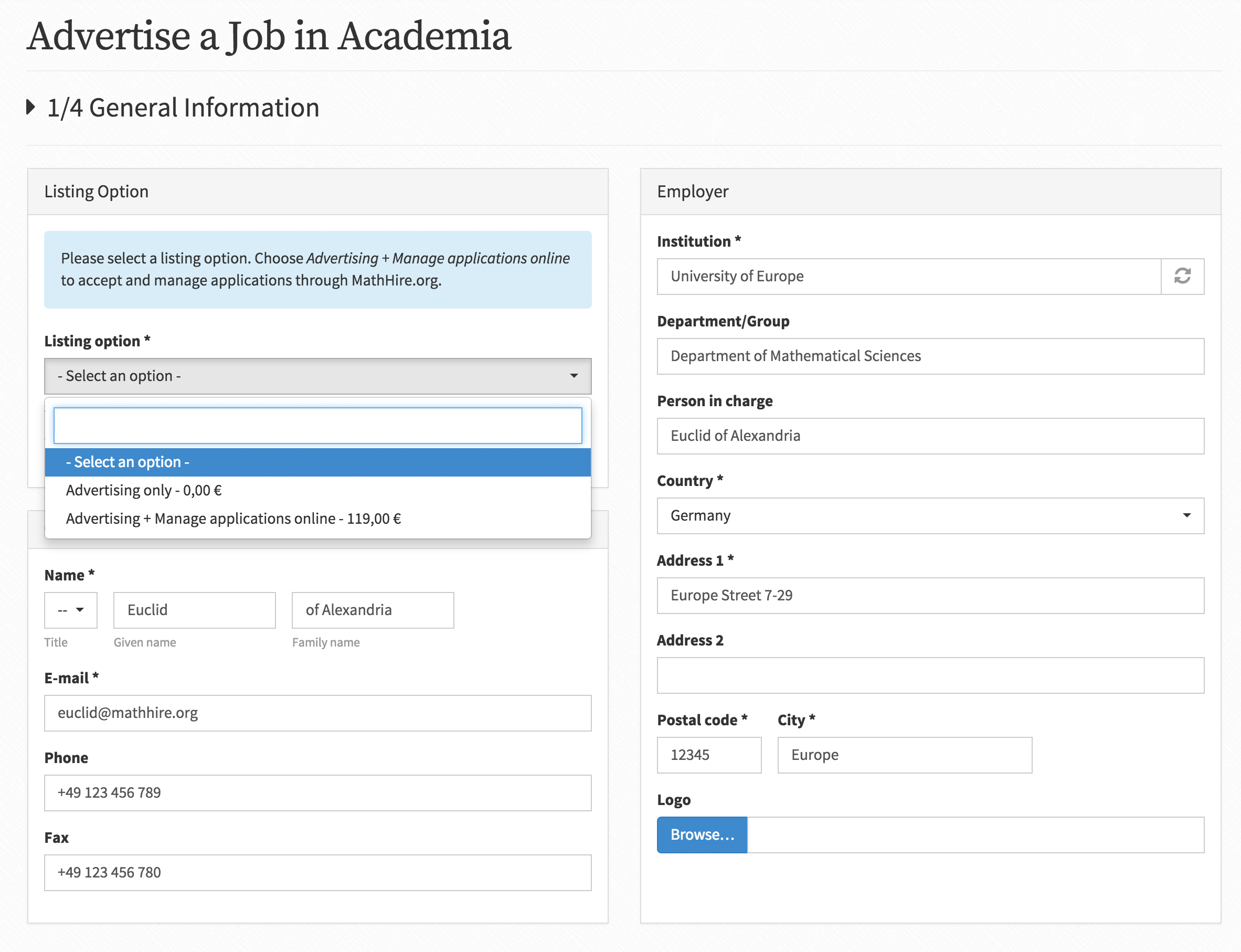 How to add a job listing and evaluate applications? | MathHire org